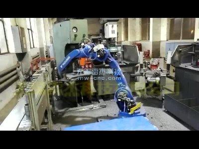 工业机器人自动上下料-群钻孔-关节机器人(8-2)